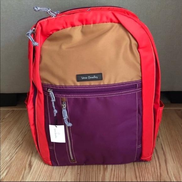 5febf8979891 Vera Bradley Lighten Up Grand Backpack Hot Lava 